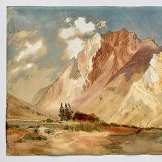 Thomas Moran (1837-1926) Mount Superior, as viewed from Alta, Little Cottonwood Canyon, Utah, c.1879.  Watercolour and graphite on paper, 30.2 x 45.4 cm (11 ⅞ x 17 ⅞ in)