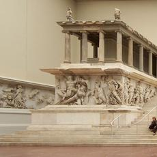 Altar to Zeus in the Pergamonmuseum, Berlin.