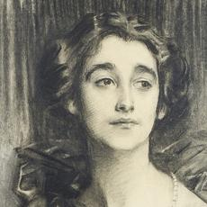 DETAIL: John Singer Sargent, Sybil Sassoon, later Marchioness of Cholmondeley, 1912.  Charcoal.  Private Collection.