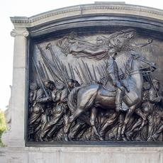 The Shaw Memorial by Augustus Saint-Gaudens