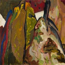 "Józef Bakós, American, 1891–1977; ""Untitled (Frijoles Canyon)"", c.  1920-25; oil on board; 18 × 23 7/8 inches; Saint Louis Art Museum, Gift of John and Susan Horseman 95:2019; © Estate of Józef Bakós"