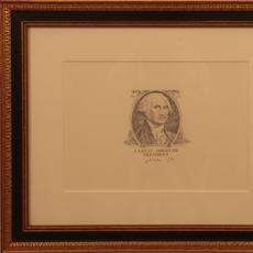 Gayle B.  Tate (American 1944 - ): A Great American President – Washington - Pencil, 8.25 x 11.5 inches inside matte/Signed lower right