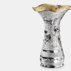 Bee vase, sterling silver, by Michael Galmer.
