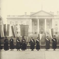 Women Suffrage Pickets at the White House, 1917.  Harris & Ewing Photograph Collection, Library of Congress.