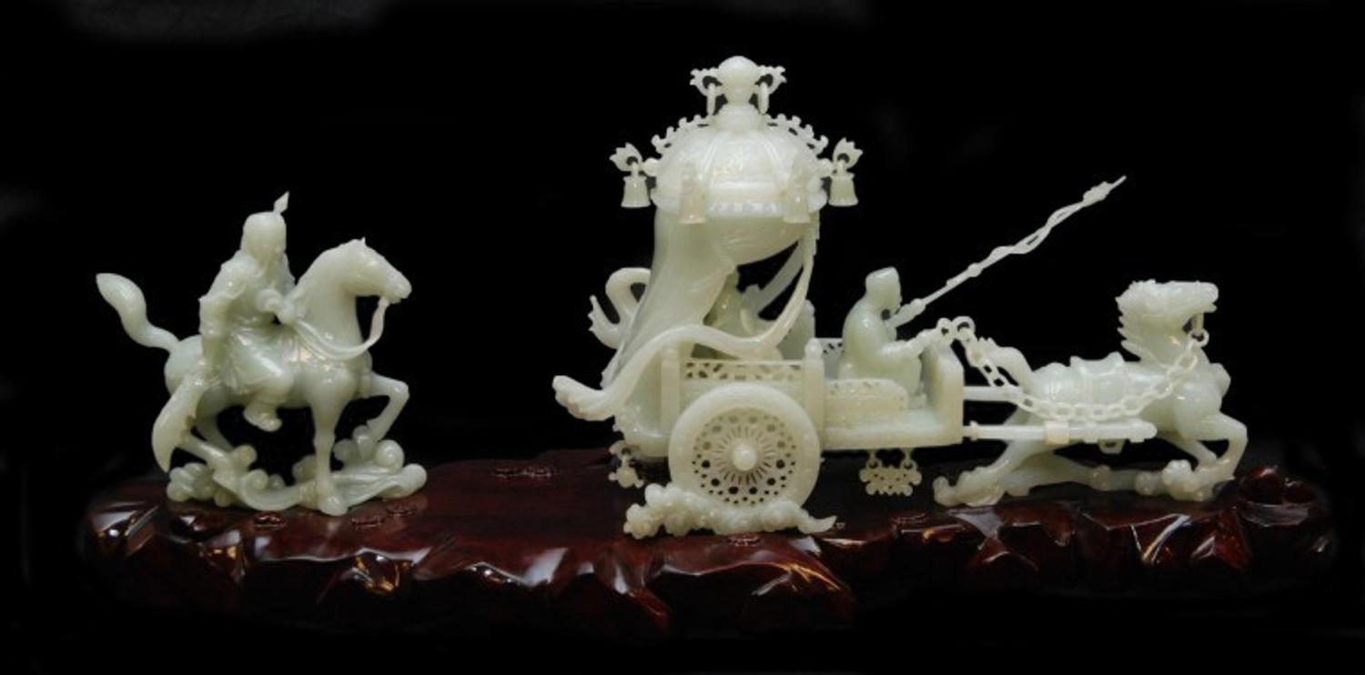 Beautiful Chinese White Jade Sculpture Brings 40 120 At