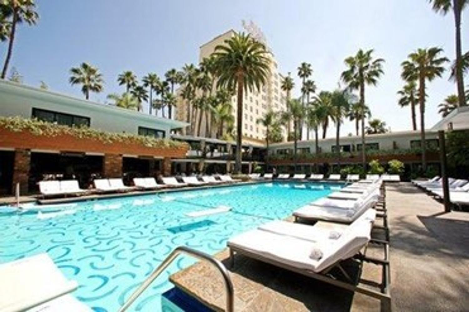 Iconic Hollywood Roosevelt With Its David Hockney Painted