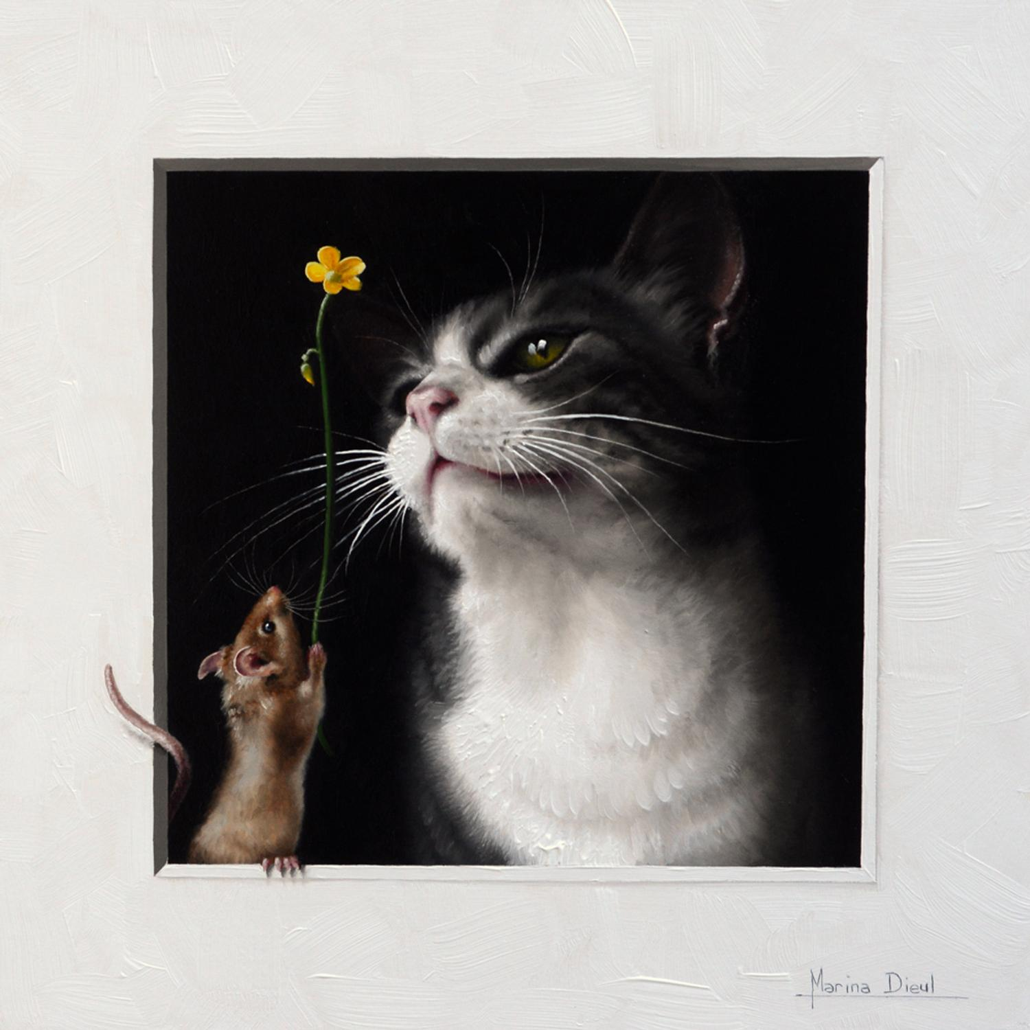 Cat And Mouse New Paintings By Marina Dieul Artwire