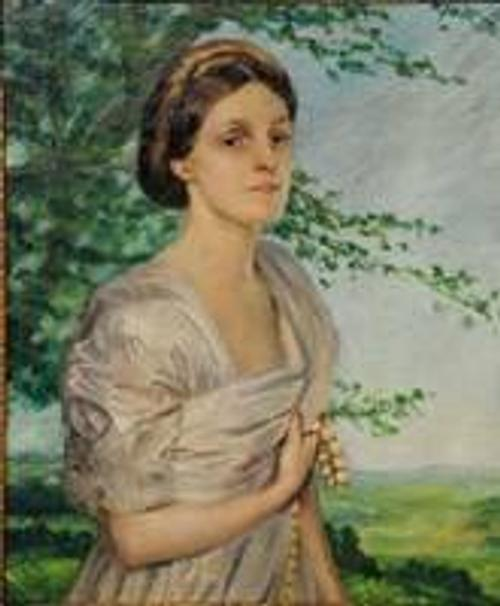 Portrait by Augustus Edwin John at Gray's Auctioneers