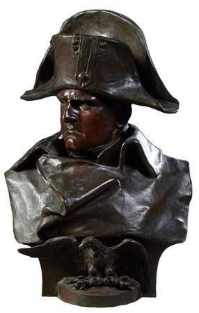 This patinated bronze bust of Napoleon I done by Renzo Colombo (Italian, 1856-1885), 22 inches in height, has a pre-sale estimate of $1,000-$2,000.