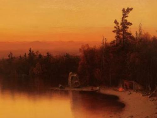 A Twilight in the Adirondacks, 1864, Sanford Robinson Gifford (1823-1880)