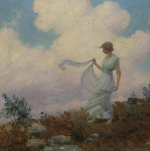 Charles Courtney Curran (American 1861-1942), The Hill Top