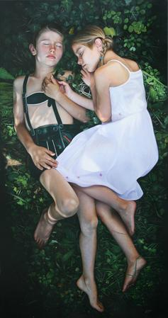 Hansel and Gretel, oil on canvas, 105x200cm