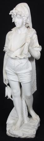 "This gorgeous marble sculpture, signed ""A.  Cipriani"" and standing 50 1/2 inches tall, will be sold June 21st."