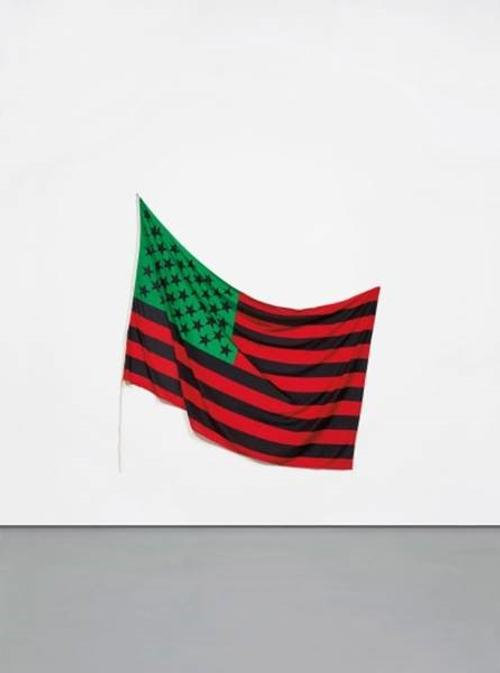 David Hammons, African American Flag, 1990 Executed in 1990, this work is from an edition of 5.  Another example from the edition is in the permanent collection of The Museum of Modern Art, New York.  Price is approximately $1,500,000 - $2,000,000.