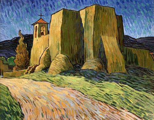 Lot 30 Robert Daughters (American, NM, AZ, 1929-2013) Ranchos Chapel, $10,000-15,000