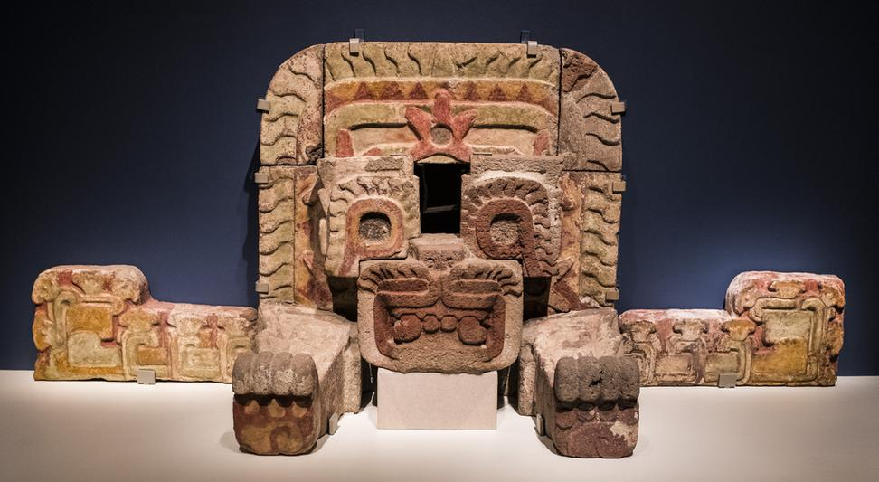 "Installation of ""Teotihuacan: City of Water, City of Fire"" at the de Young Museum, San Francisco, through February 11, 2018."
