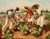 Thomas Hart Benton (1889-1975) Choppin' Cotton, 1931.  Tempera on board.  Courtesy of the Warner Foundation.