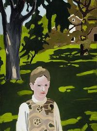 Fairfield Porter's painting 'Under the Elms', 1971 - 1972, Oil on canvas, Pennsylvania Academy of the Fine Arts