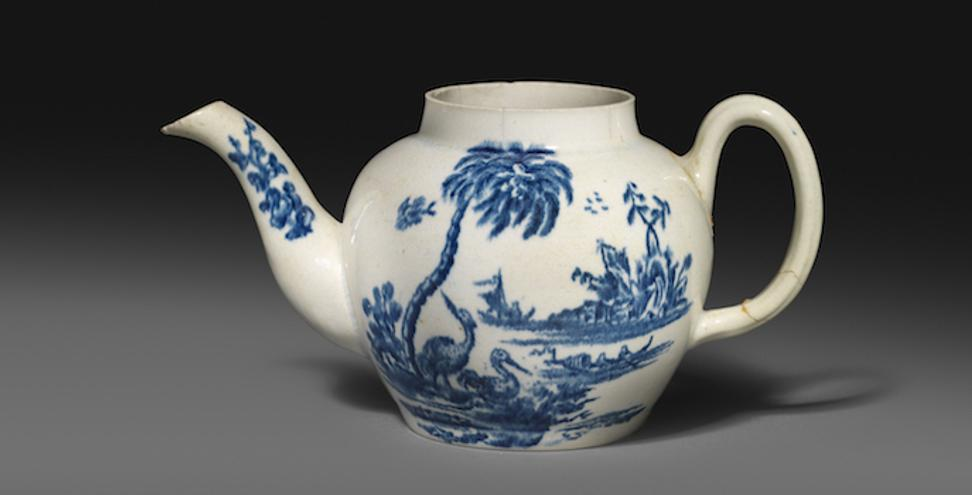 American porcelain teapot attributed to John Bartlam (Cain Hoy, South Carolina), c.1765-69