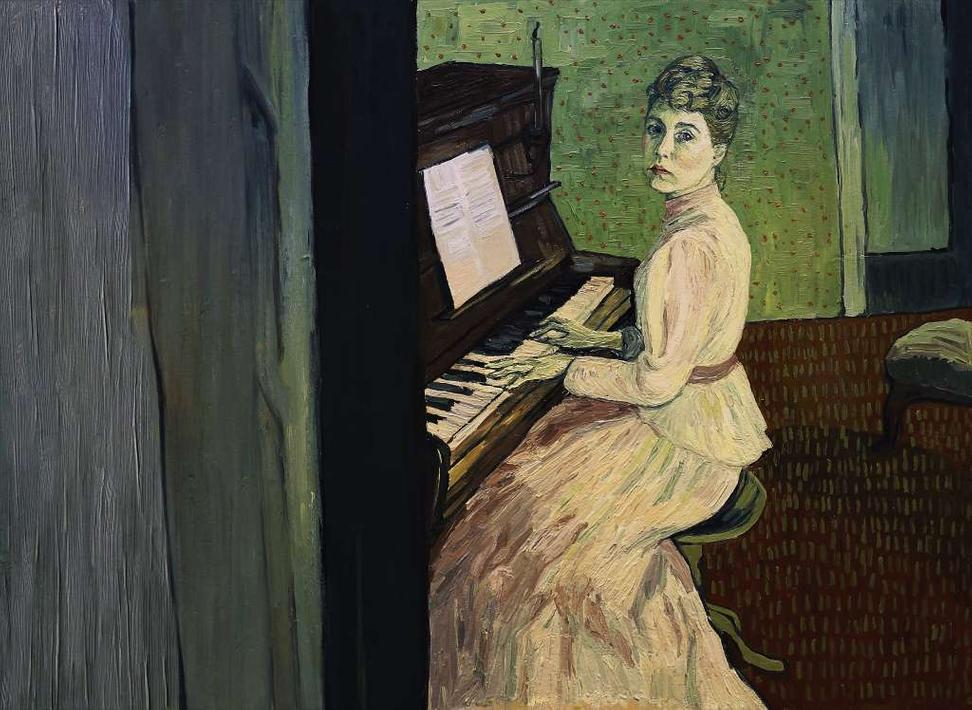 "A painted version of actress Saoirse Ronan as Marguerite Gachet in the film ""Loving Vincent."""