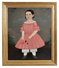 George Hartwell (Massachusetts, 1815-1901) Portrait of Mary A.  Crockett of Lincoln, Maine (Lot 89, Estimate: $15,000-25,000)