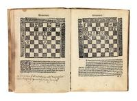 Lot 113: Luis de Lucena, Arte de Ajedres, first edition of the earliest extant manual on modern chess, Salamanca, circa 1496-97.  Estimate $10,000 to $15,000.