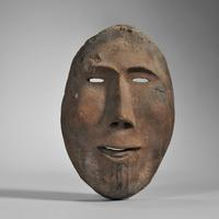 Inupiaq Carved Wood Mask, c.  19th century (Lot 205, Estimate: $2,500-3,500)
