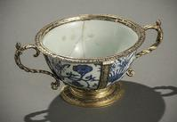 Elizabethan Gilt-Silver Mounted Chinese Blue and White Two-Handle Bowl, Xuande Mark and Period (1426-1435)
