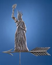 Weathervane: Liberty Enlightening the World New York or New England, 1900-1910 Copper and zinc alloy Gift of Abby Aldrich Rockefeller, 1932.800.4