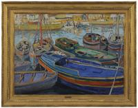 Jane Peterson (American/Italy/France, 1876-1965) Fishing Boats, Gloucester, Massachusetts