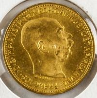 Lot 197: 1915 Austro-Hungarian 20 Corona Gold (.900) Ducat