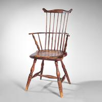 Painted Windsor Fan-back Armchair, New England, late 18th century (Lot 243, Estimate: $1,500-2,500)