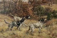 Setters on the Hunt by German migr, Edmund Henry Osthaus (Am.  1858-1928)