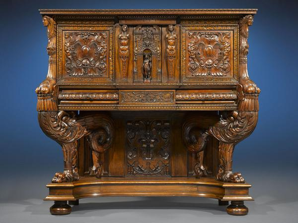 This amazing dressoir, or sideboard, was created over 425 years ago