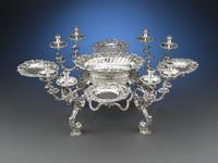 Stunning George II Silver Epergne by Ann Craig and John Neville.  Theirs was one of only a handful of female/male silversmithing partnerships to ever exist