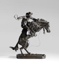Frederic Sackrider Remington (New York, 1861-1909) The Bronco Buster, 1895, #51 of an approximate edition of 64