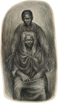 Lot 38: Charles White, Take My Mother Home, pen, ink and wash, 1957.  Estimate $250,000 to $350,000.