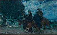 Lot 4: Henry Ossawa Tanner, Flight into Egypt, oil on canvas, circa 1910.  Estimate $200,000 to $300,000.