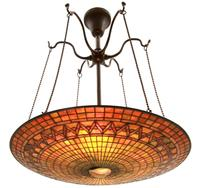 A Tiffany Studios standout, this 24-inch inverted hanging lamp kicked off the sale to bring $66,550.