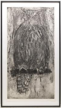"Lot 146.  Jim Dine.  ""White Owl (for Alan)"""