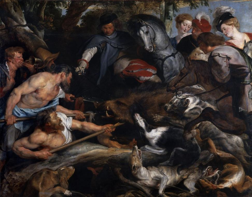 Peter Paul Rubens (Flemish, 1577–1640) Boar Hunt, ca.  1615/1617.  Oil on canvas, 98 7/16 X 126 in.  (250 x 320 cm).  Musée des Beaux-Arts, Marseille, France, Inv.  BA103 Photo: Jean Bernard.  © RMN-Grand Palais / Art Resource, NY