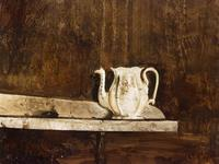 "Andrew Wyeth, ""Christina's Teapot,"" watercolor and pencil on paper, 1968."