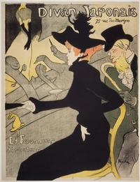 Henri de Toulouse-Lautrec, Divan Japonais, 1893.  Lithograph.  Albert H.  Wiggin Collection.  Boston Public Library.