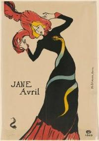 Henri de Toulouse-Lautrec, Jane Avril, 1899.  Poster, color lithograph.  Albert H.  Wiggin Collection.  Boston Public Library.