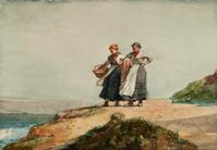 Winslow Homer, Looking out to Sea, Cullercoats, 1882.