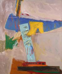 Ann Purcell.Gypsy Wind, 1983.  Acrylic and collage on canvas.  72 x 60 inches.