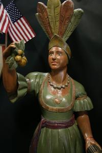 Wooden Cigar Store Indian sold for $30,000 at Witherell's Old West Show in Grass Valley recently