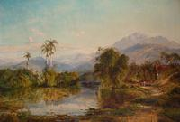 Edmund Darch Lewis (1835-1910), View of Cuba, 1860, Signed and dated, Oil on canvas, 30 x 43 7/8 inches.  Est.  $25,000-35,000