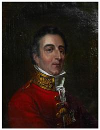 English School oil on canvas titled Portrait of the Duke of Wellington, 17 inches by 13 inches (est.  $500-$900).