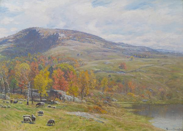 'Crotched Mountain in October' by John J.  Enneking (1841-1916), oil on canvas, 22 x 30 inches, signed and dated lower right: 'Enneking 91', 1891